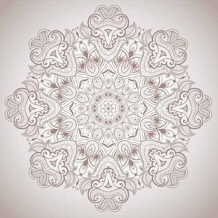 Lacy arabesque designs  Oriental ornament  You can use this pattern in the design of textile, carpet, shawl, cushion, greeting card  Stock Photo