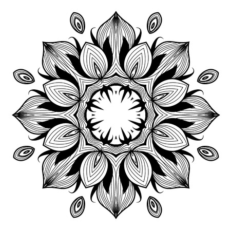 Lacy arabesque designs. Oriental ornament. You can use this pattern in the design of textile, carpet, shawl, cushion, greeting card. Vector