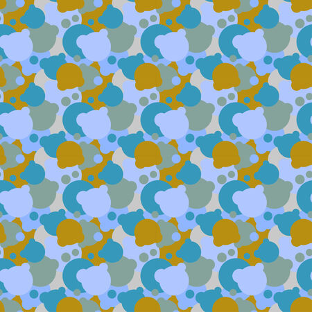 Seamless pattern of balls. Vector illustration Vector
