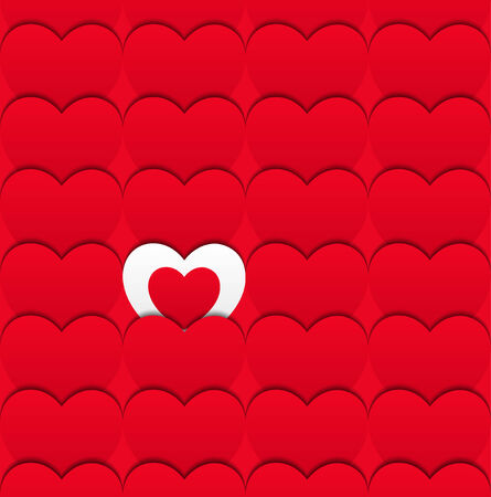 february 1: Vector illustration. Valentine's day concept. You can use it as a congratulatory banner, postcard or pattern Illustration
