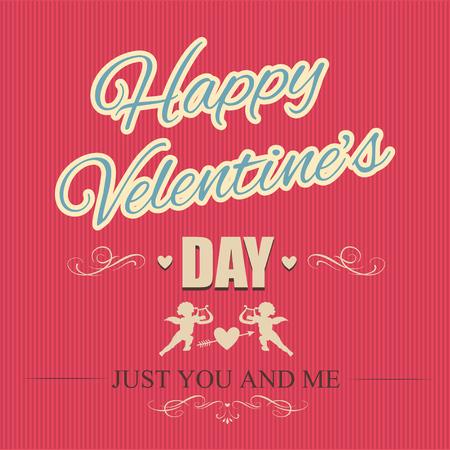 eros: Typographical banner Happy Valentines Day