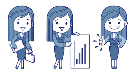 Three characters business women  Vector illustration Vector