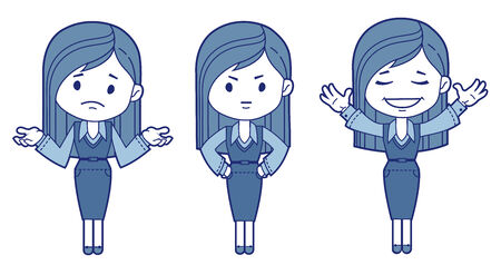 Three character women  Vector illustration