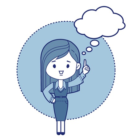 bemused: Character manager  think. Vector illustration Illustration