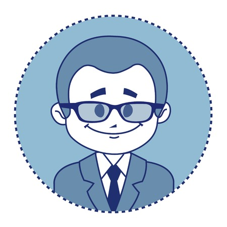 taxman: Character smiling theacher in suit with tie Illustration