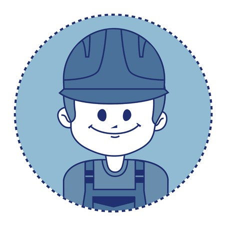 millwright: Character builder in uniform. Vector illustration