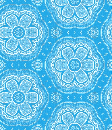Lace seamless pattern. You can use this pattern in the design of textile, carpet, shawl, cushion, greeting card. Vector