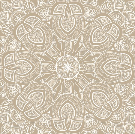 Ornamental round lace background. Lacy arabesque designs.