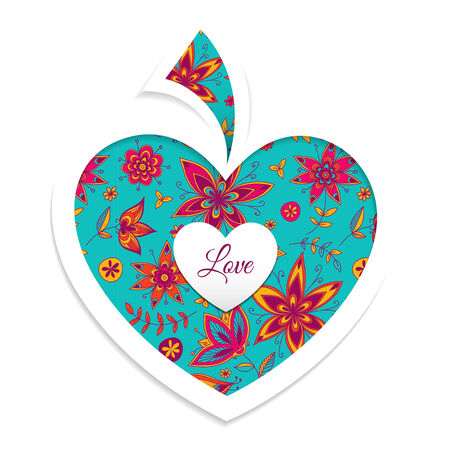 amur: Valentines day card with heart