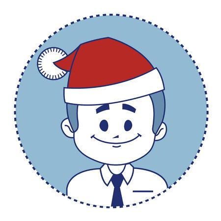 employe: Christmas character smiling Santa Claus Illustration
