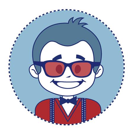 showman: Showman de moda y feliz en gafas de sol