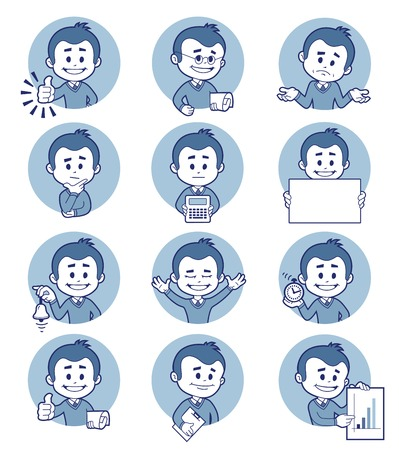 teaser: Flat people icons with business characters.
