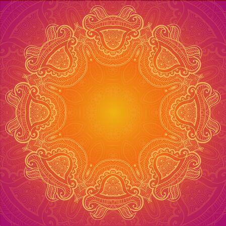 indische muster: Lace Hintergrund für Grußkarte.