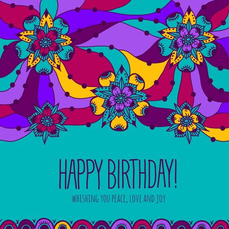 sammer: Colorful greeting card Happy Birthday
