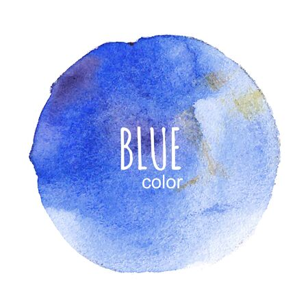 Vector round watercolor stain