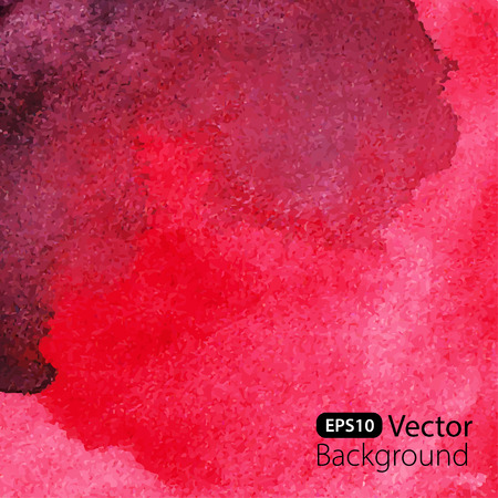 Abstract red watercolor background.