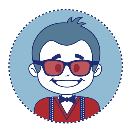 showman: Fashionable and happy showman in sunglasses.  illustration Stock Photo