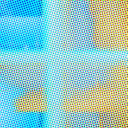 pixelate: Abstract colorful background in color halftone effect. Vector illustration