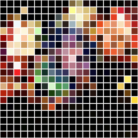 Bright colorful mosaic seamless pattern. Vector holiday background. Can use it for trendy banner.