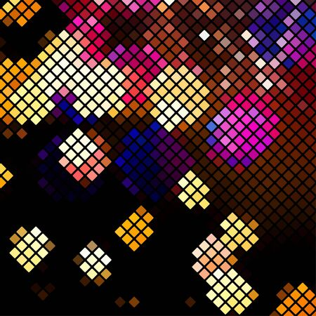 glistening: Bright colorful mosaic background. Vector holiday background. Can use it for trendy banner.