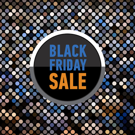 discount banner: Black friday sale banner on mosaic background. Trendy sale poster