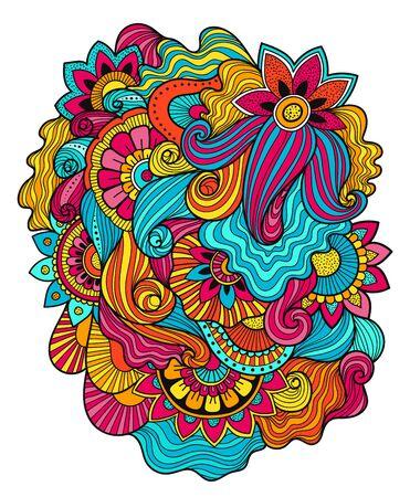 Floral tattoo. Zentagle method.Doudles composition