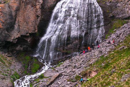 Beautiful waterfall Girlish Braids in Caucasus