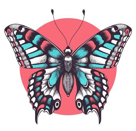 Beautiful butterfly Tattoo. Beauty symbol