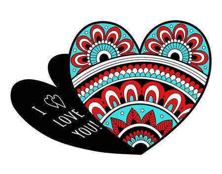 Valentines Day card. Openwork heart