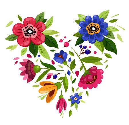 Heart from flowers. Symbol of love