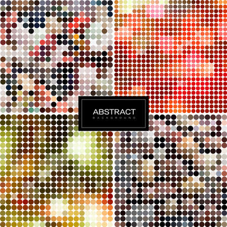 Set of Vector sparkling mosaic backgrounds. Shiny, glowing wallpapers. Collection abstract shiny backgrounds. 일러스트