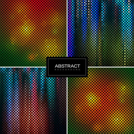 Set of Vector sparkling mosaic backgrounds. Shiny, glowing wallpapers. Collection abstract shiny backrounds.