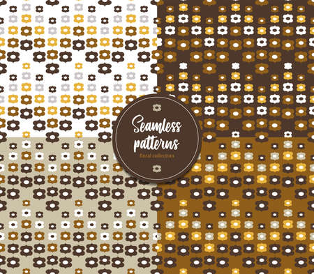 Seamless floral patterns. Flower collection. It can be used for wallpaper, pattern fills, textile design, scrapbooking