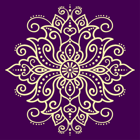 vector, illustration, element for design, lotus, mandala, east, ethnic style, abstract