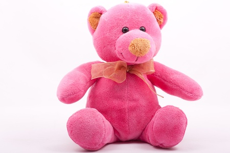 pink teddy bear, soft toy for children, soft and fluffy
