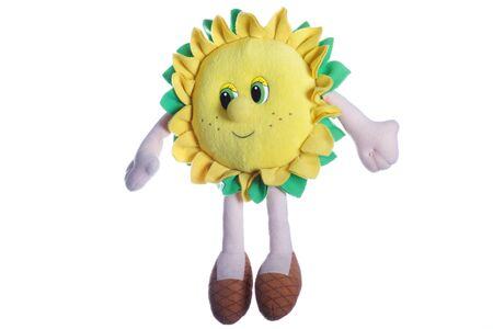fun sun yellow toy isolate over white Stock Photo - 11569056