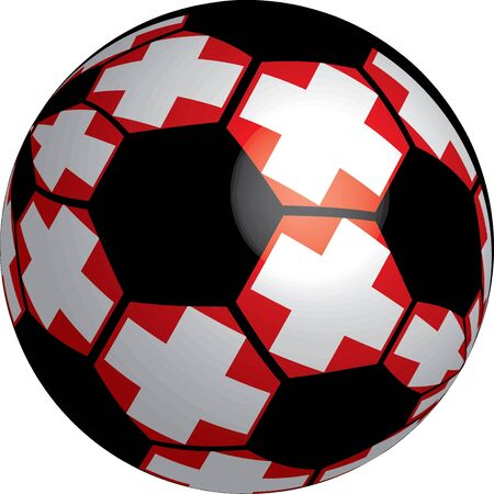 Switzerland flag soccer ball vector a set of flags