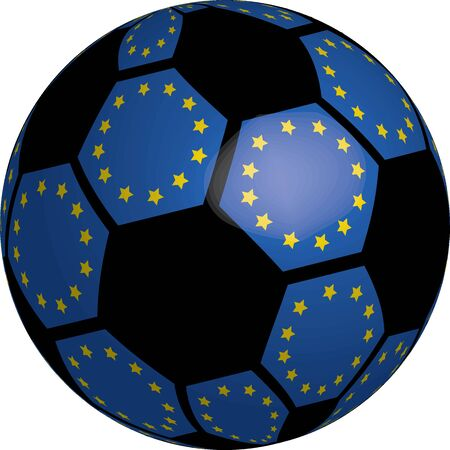 Flag of Europe soccer bal vector a set of flags Stock Photo