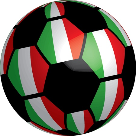 Flag of Italy soccer bal vector a set of flags