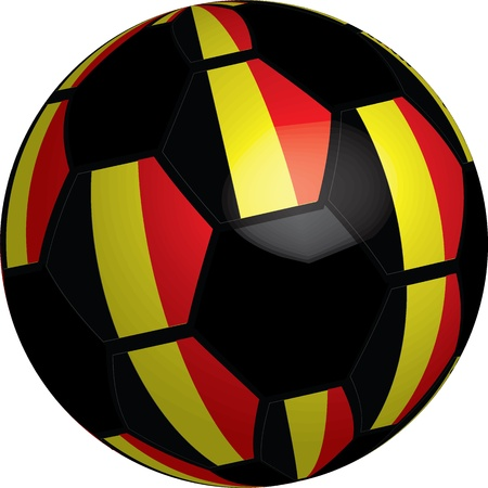 Flag of Belgium soccer bal preview vector a set of flags Stock Photo