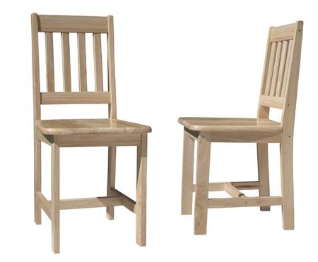 silla de madera: silla de madera ligera para sentarse aislado en blanco