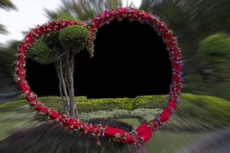 Frame Heart of flowers for wedding or Valentine s Day