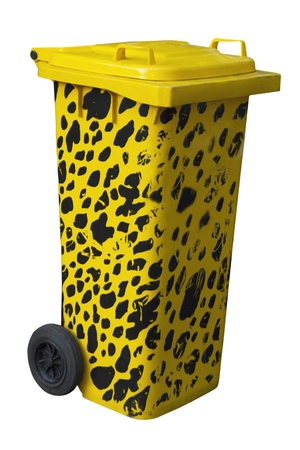 big yellow trash dalmatian coloring isolated on white