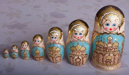matryoshka russian wood doll woman or girl