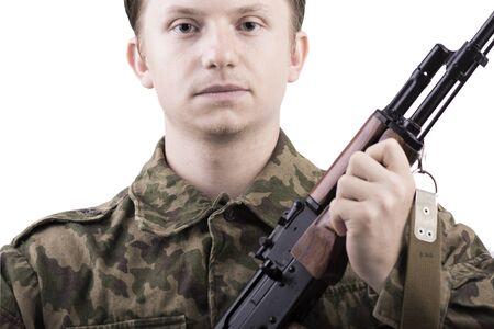 solder: solder with gun AK-47