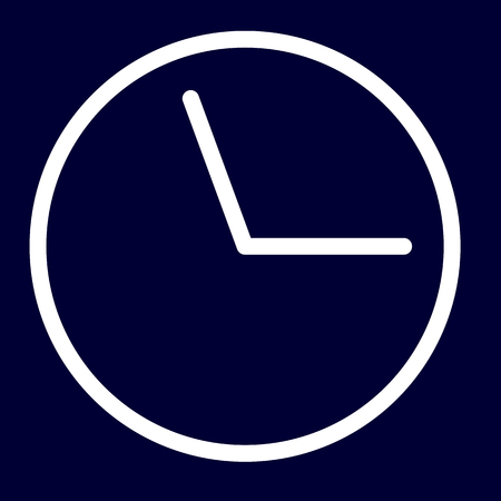 Time or deadline icon of set white outlines, vector of collection business