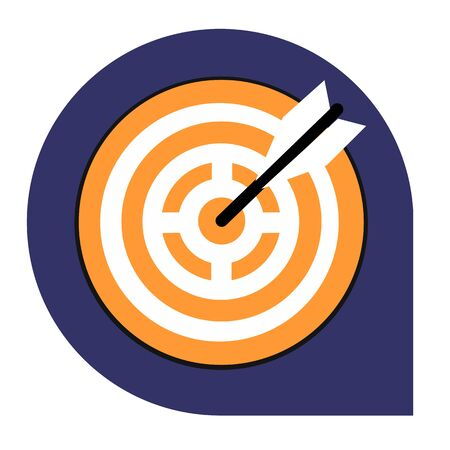 Goal or target icon of set tricolor, vector of collection business Illustration