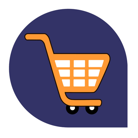Cart or shopping icon of set tricolor, vector of collection business