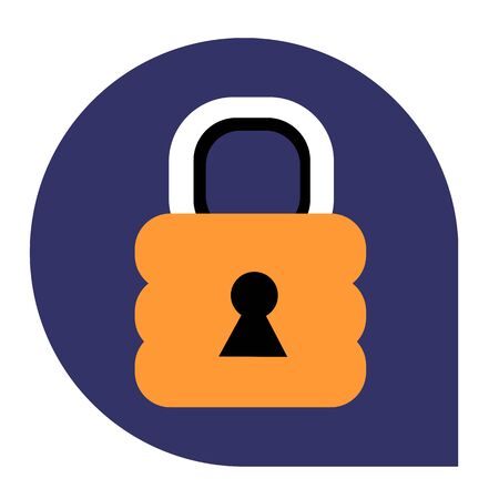 Lock or closed icon of set tricolor, vector of collection business