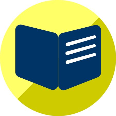 Book or education icon of set flat, vector of collection business